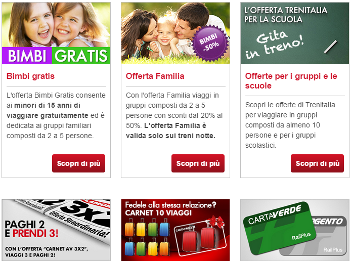 Trenitalia offerte speciali 2015