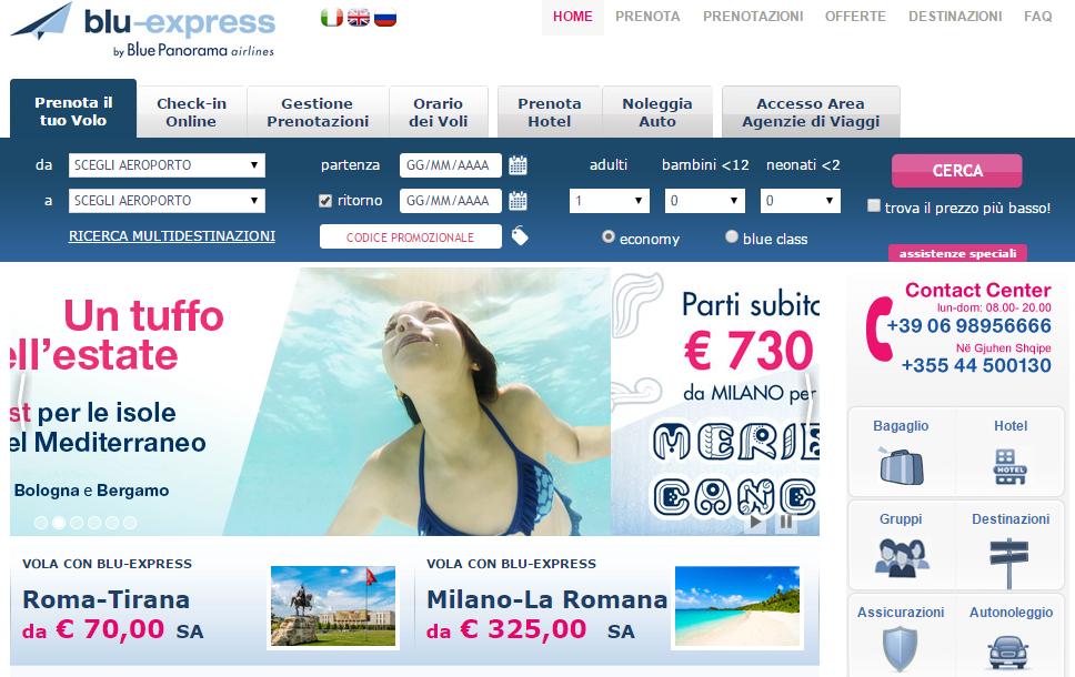 Blu express opinioni 2016 voli economici e compagnia aerea for Cambio orario volo da parte della compagnia