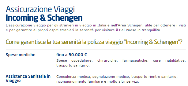 assicurazione viaggio Schengen