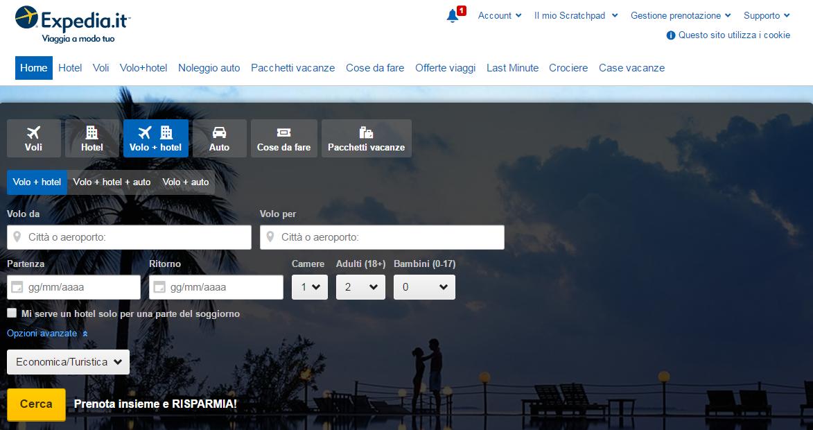 Expedia It Offerte Viaggi Prenotazione Voli E Hotel
