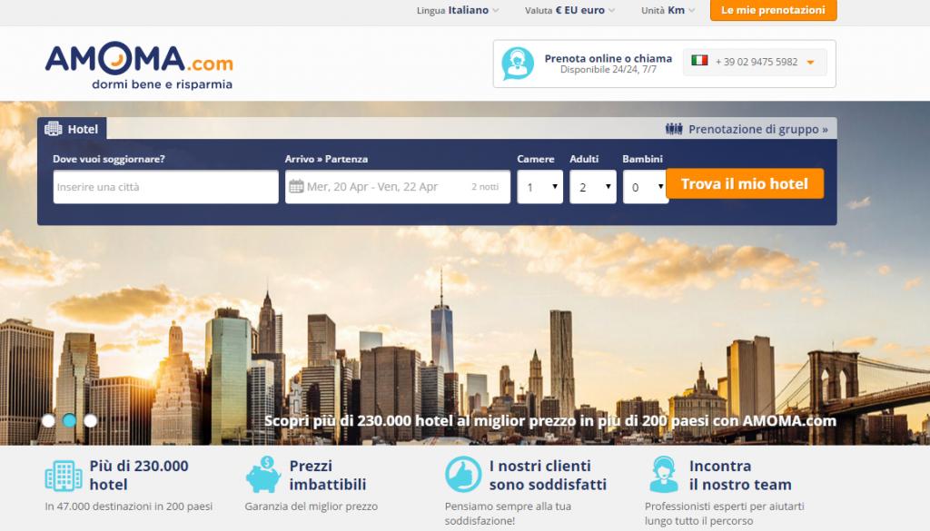 Amoma: commenti, opinioni e offerte per hotel a Londra e Parigi