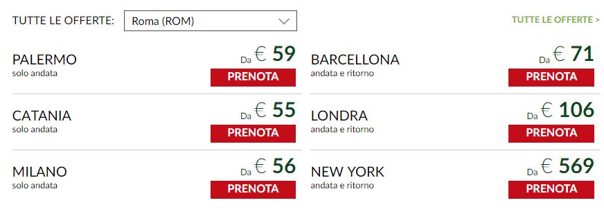 Biglietti aerei Alitalia