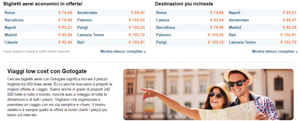 biglietti aerei economici
