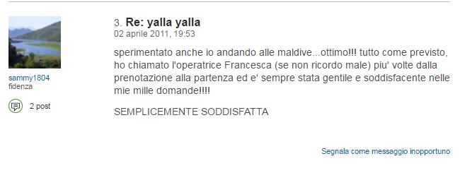 yalla yalla commenti