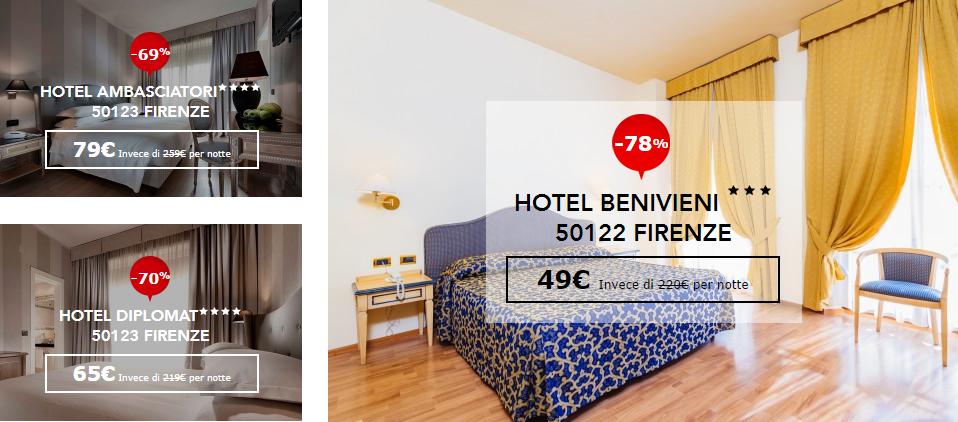 Dayuse hotel: offerte Milano, Roma e Firenze