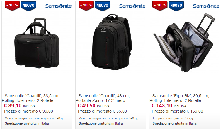 valigie online business