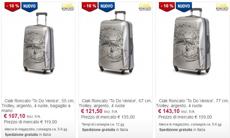valigie online roncato