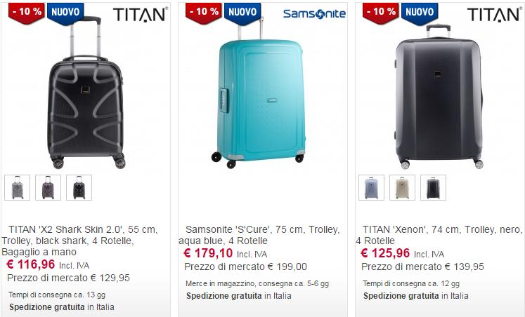 valigie online trolley
