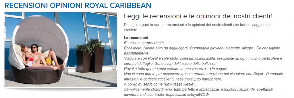 royal caribbean recensioni