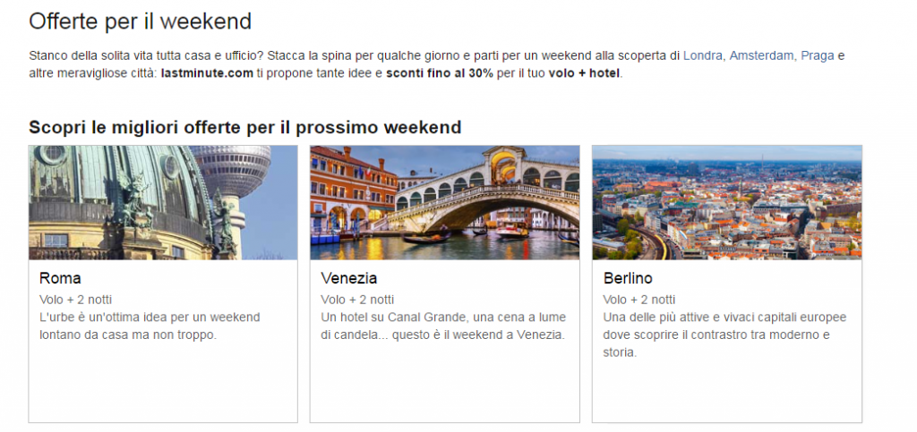 lastminute.com weekend