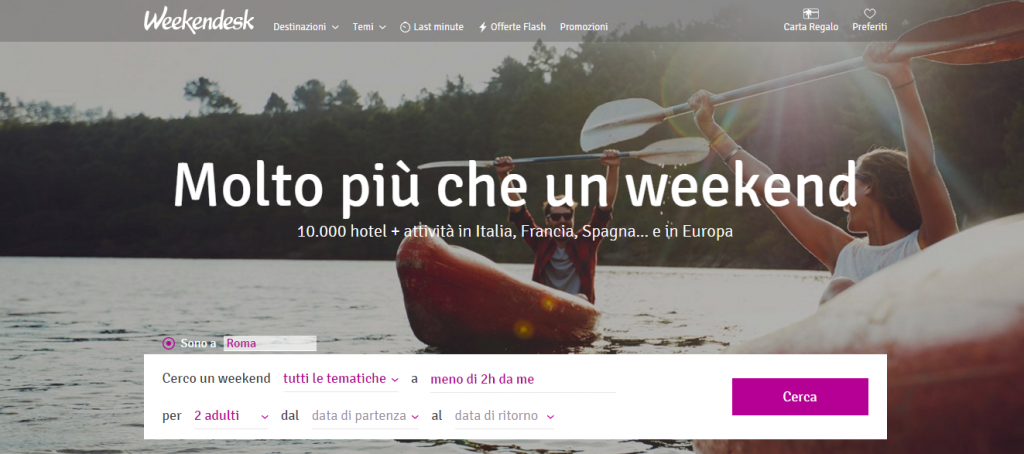 Weekendesk affidabile? Offerte hotel last minute in Italia