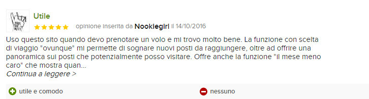 skyscanner recensioni