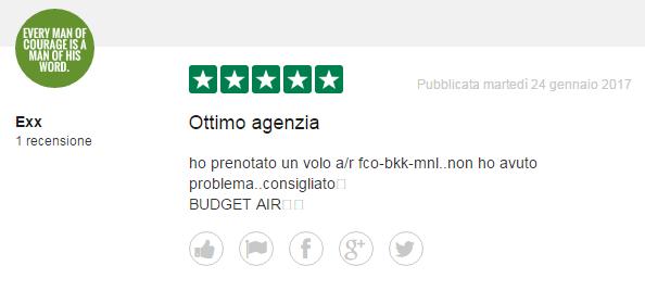 commenti di budgetair