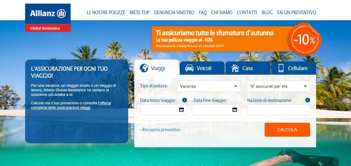 Allianz assicurazioni 2021: polizze viaggi e annullamento ...