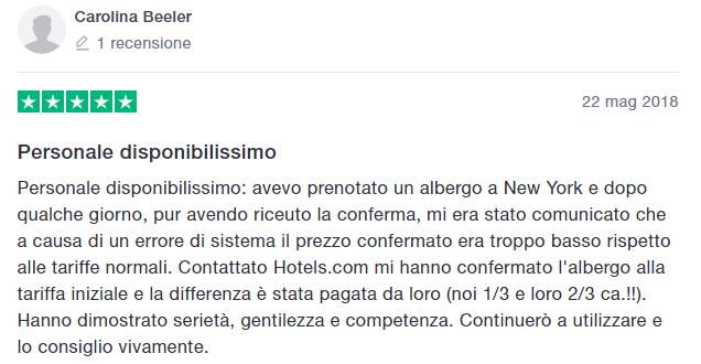 hotels.com opinioni